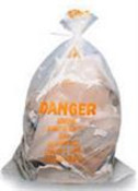 Clear Asbestos Labeled Bags