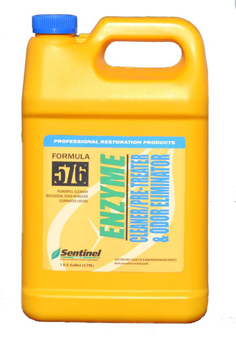 SENTINEL 576 ENZYME CLEANER/PRE-TREATER AND ODOR ELIMINATOR, PER GALLON